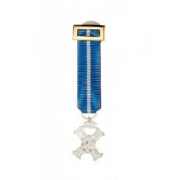 Medalla Miniatura Merito Civil Plata