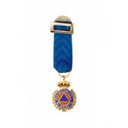 Medalla miniatura Proteción Civil Oro