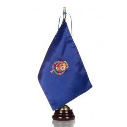 Bandera seda Casa Real con Peana de madera