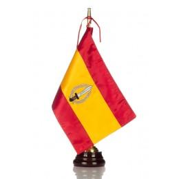 Bandera seda GOE con Peana de madera