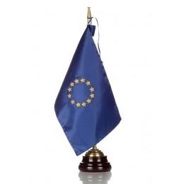 Bandera seda Unión Europea con Peana de madera
