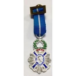 Medalla Miniatura Cruz Merito Civil Plata