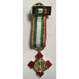 Medalla Miniatura Merito Policial Blanco