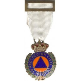 Medalla al Merito de la Protección Civil Dtvo Blanco Bronce