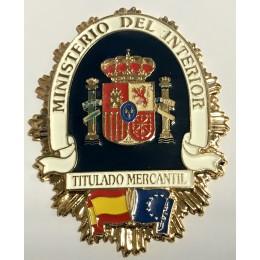Chapa cartera Escudo Patrón de Embarcación
