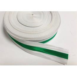 Cinta Medalla Blanca - Verde - Blanca 3cm (Metro)
