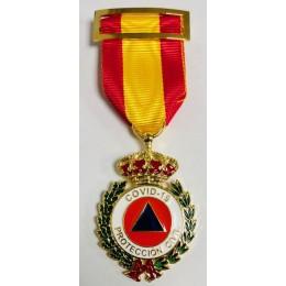 Medalla al Merito de la Protección Civil Dtvo Rojo Bronce