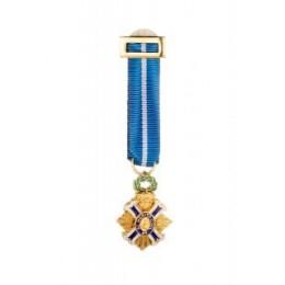Medalla Miniatura Cruz al mérito Civil Oficial Oro
